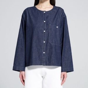Uniqlo U Lemaire Chambray Button-Up